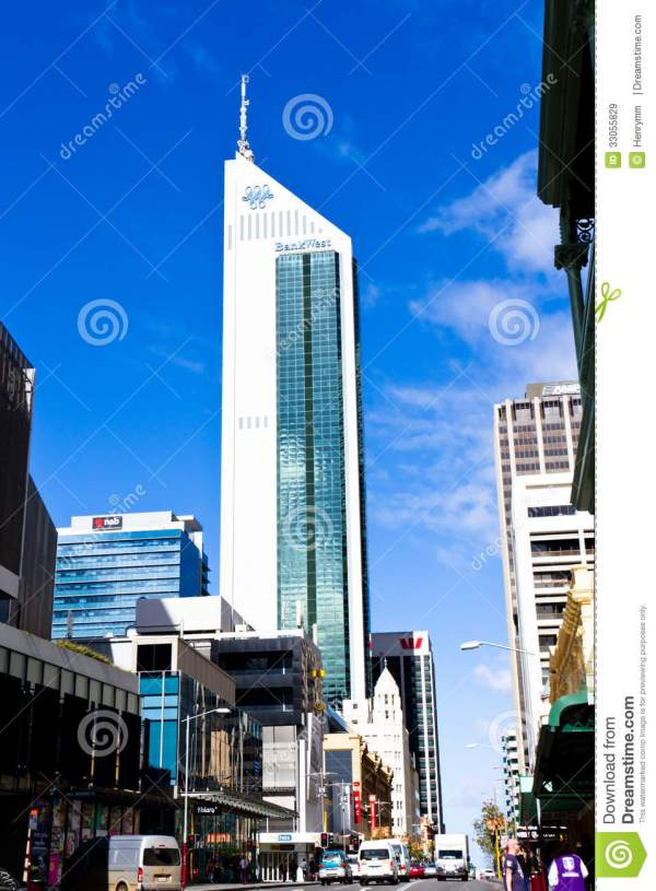 Perth Business District Editorial Stock Image - Image ...