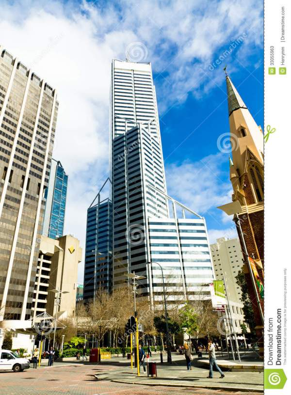 Perth Business District Editorial Stock Photo - Image ...