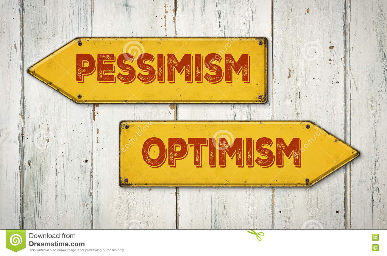 Pessimism Or Optimism Stock Photo Image Of Message Happy