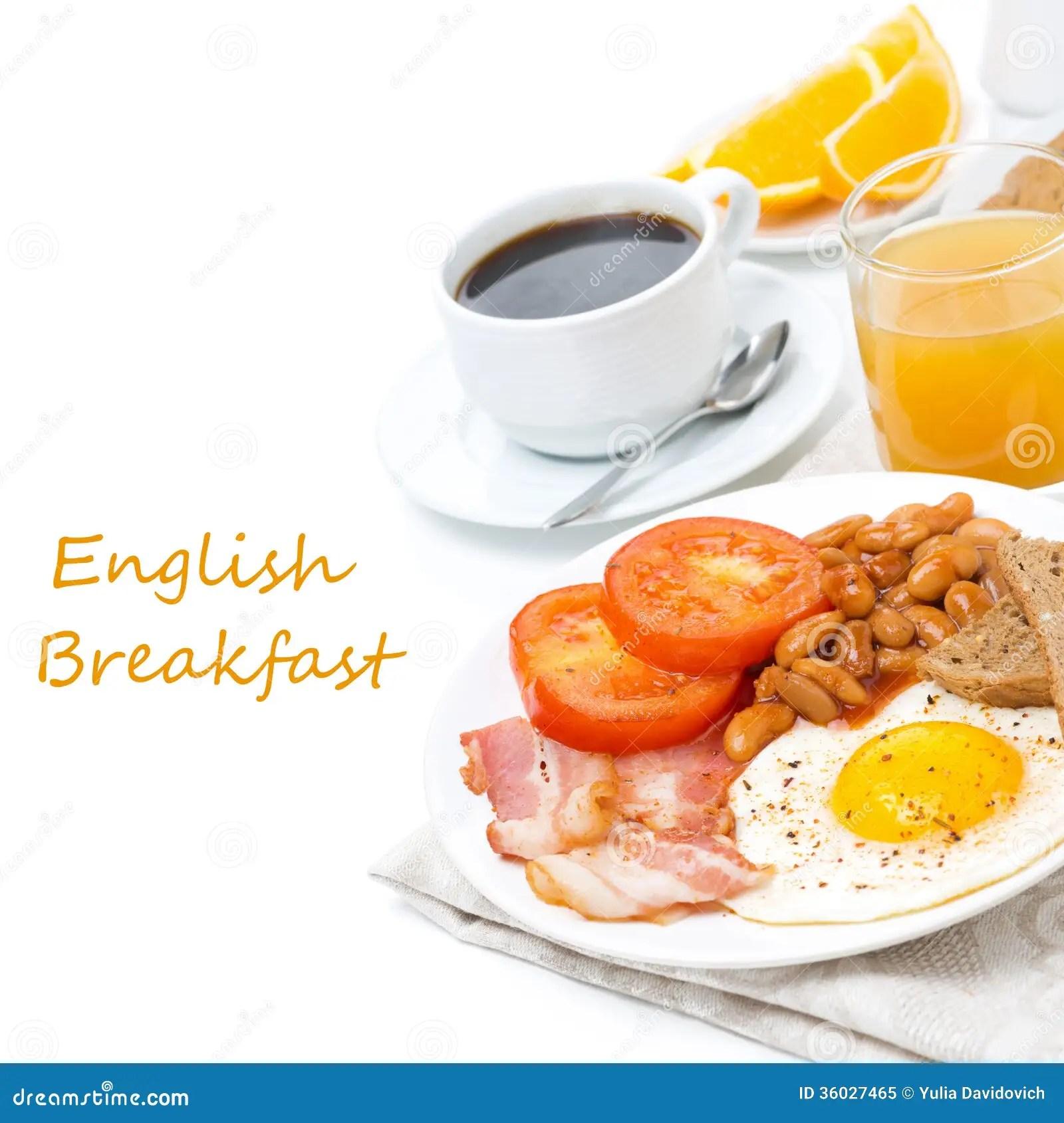 Petit Dejeuner Anglais Traditionnel Avec Des Oeufs Au Plat