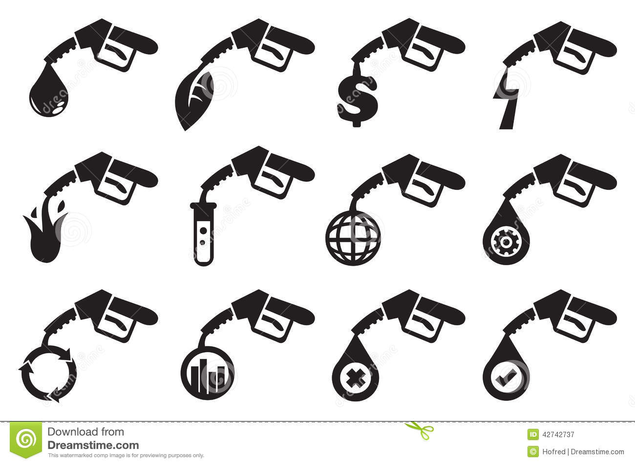Petrol Pump Vector Icons Stock Vector