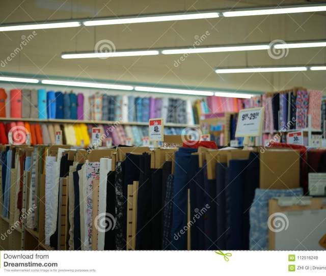 Philadelphia Pennsylvania United States March 18 2018 Joann Fabrics And Crafts Company Of The Interior In Store