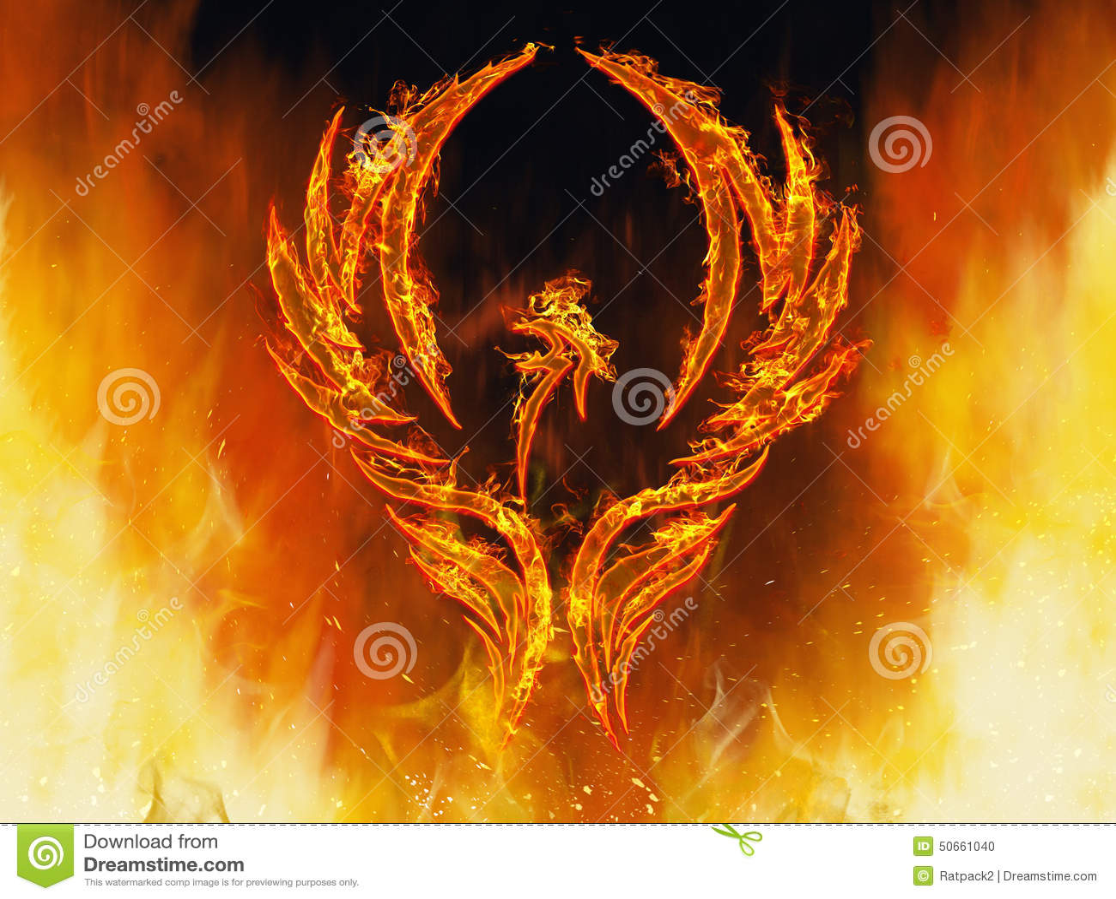 Phoenix Rising Stock Photo Image 50661040