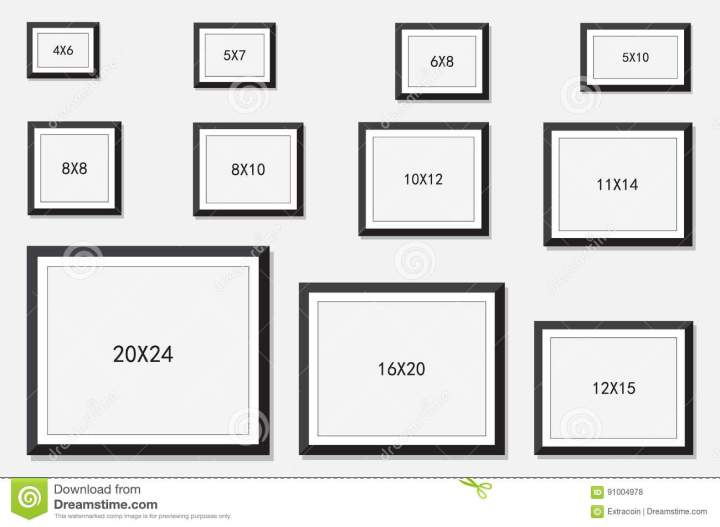 Size Of Frames For Pictures | Framess.co
