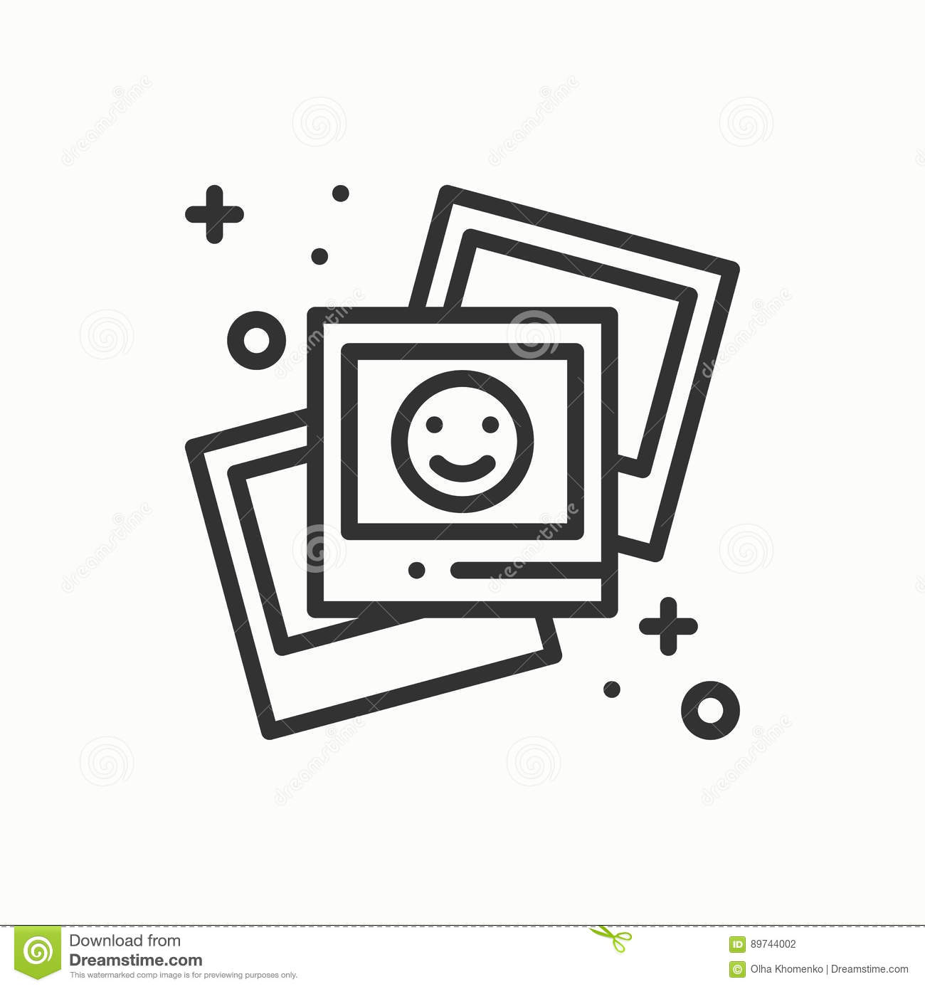 Photograph Line Outline Icon Photo Picture Photography