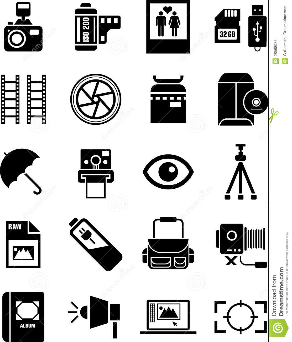 Photography Icons Stock Vector Illustration Of Instant