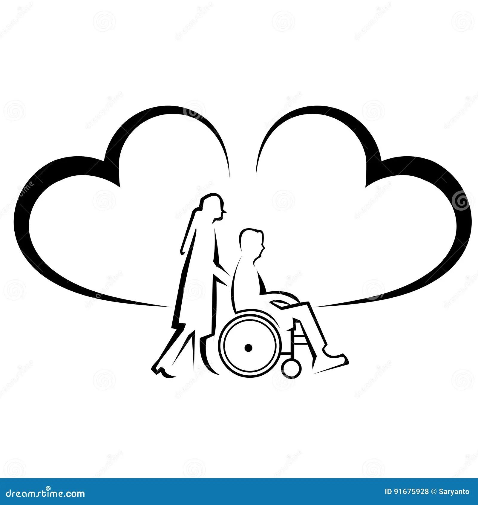 Man Broken Leg Plaster Cast Wheelchair Cartoon Vector
