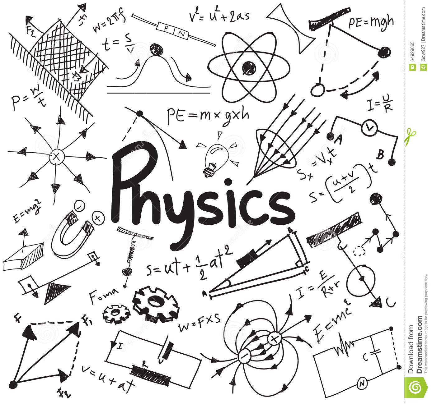 Physics Science Theory Law And Mathematical Formula