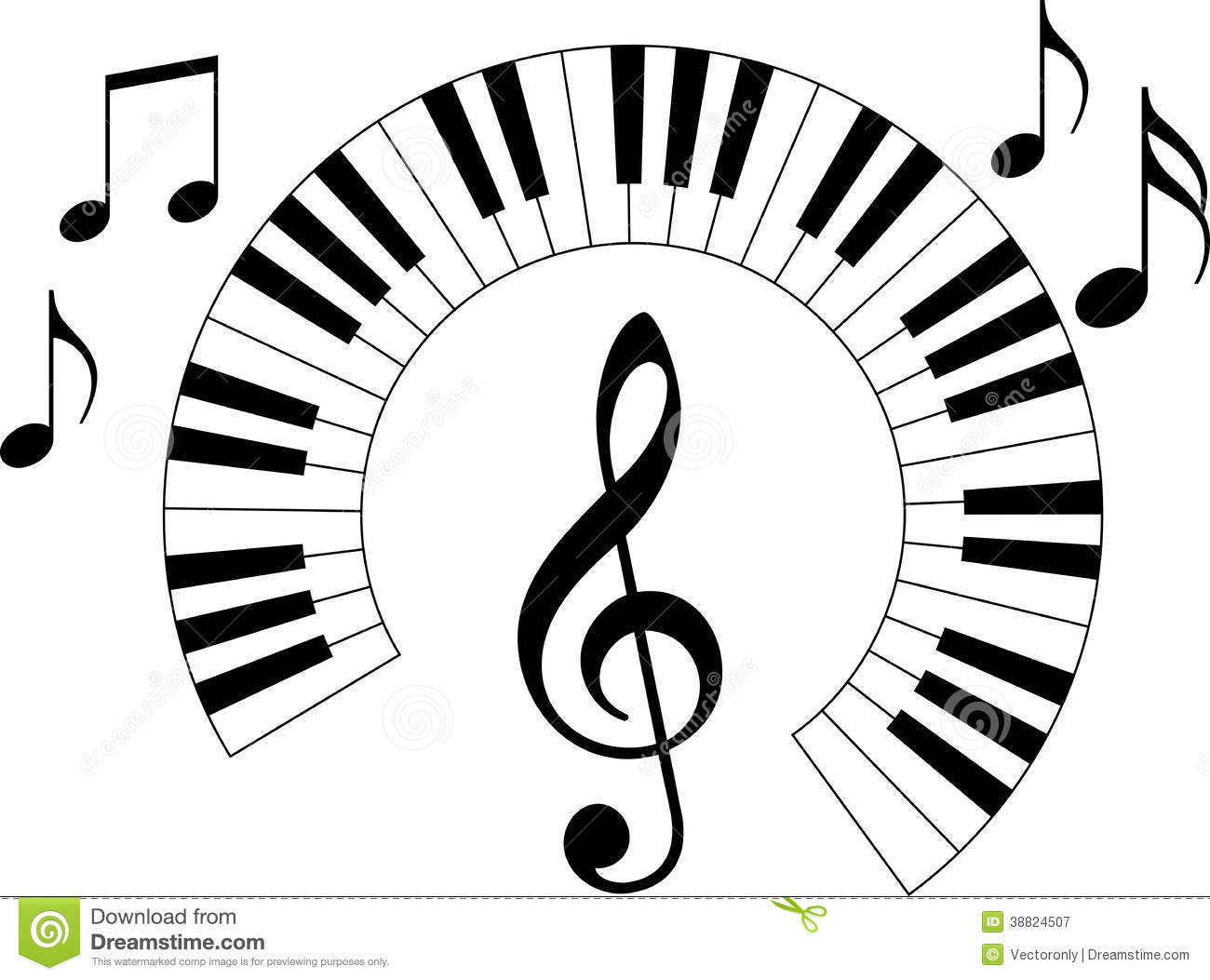 Piano Keyboard Stock Vector Illustration Of Melody