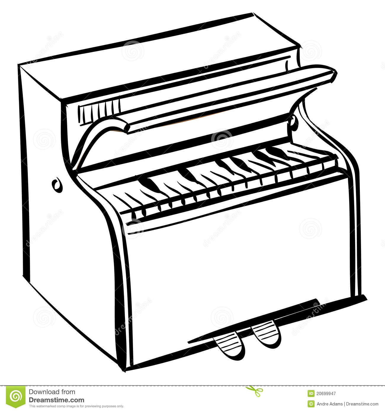 Piano Outline Stock Illustration Illustration Of