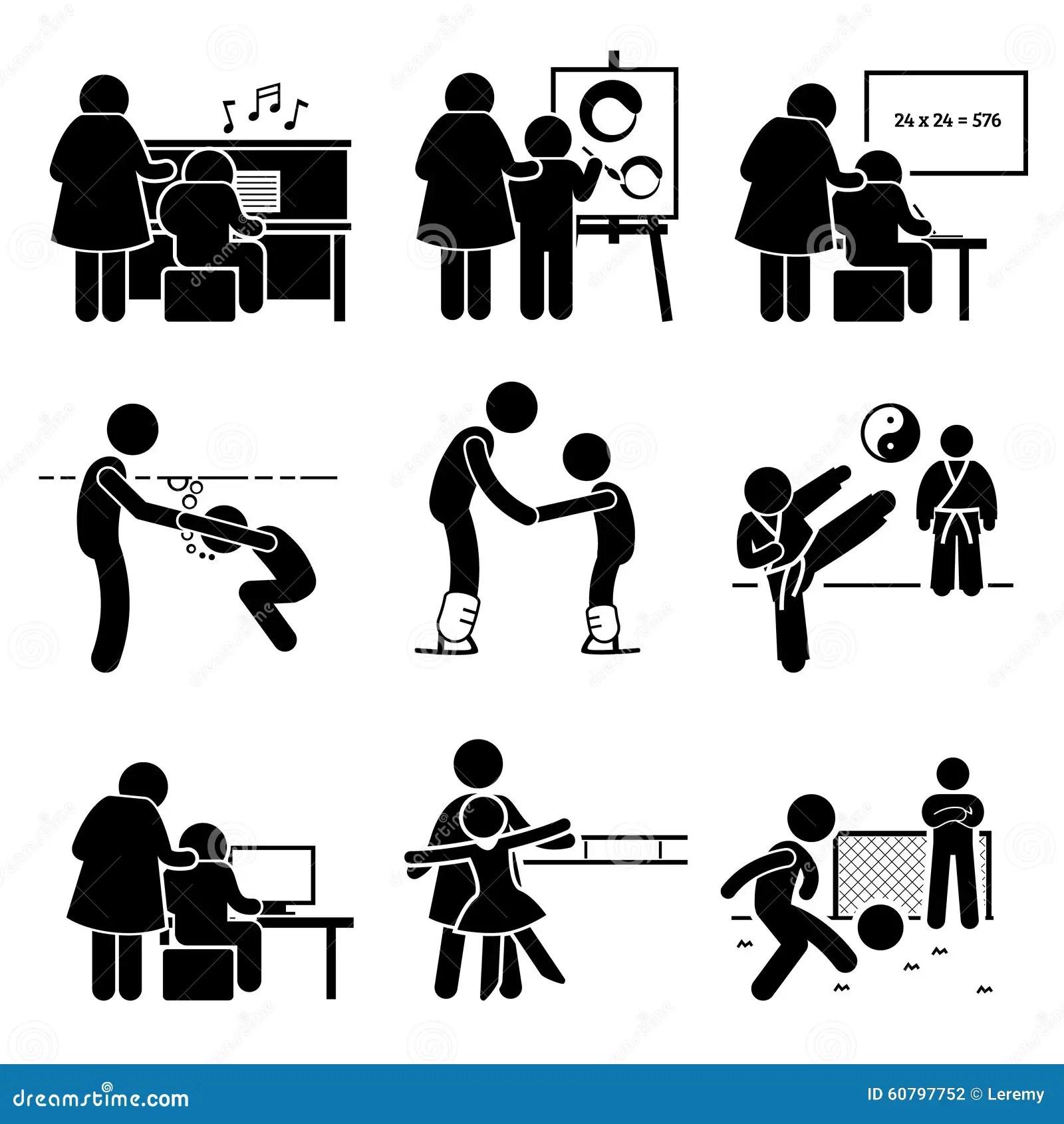 Pictogramme Clipart De Learning Various Knowledge D Etudiant Illustration De Vecteur