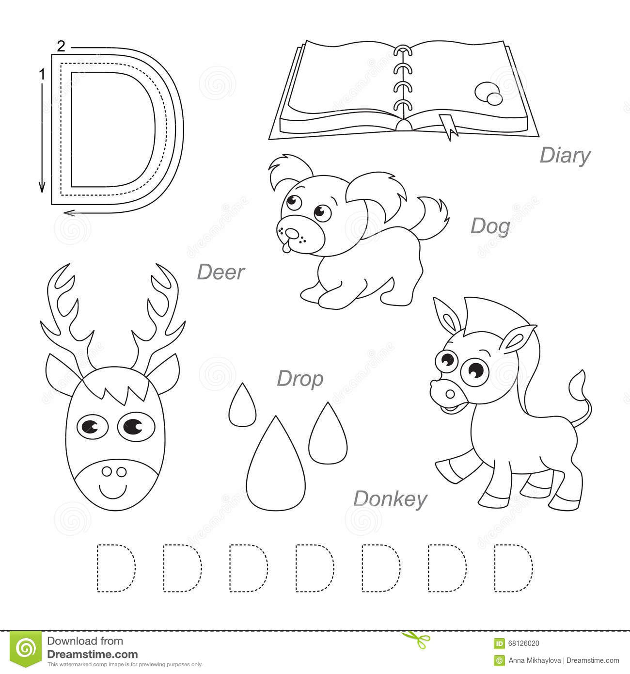 Pictures For Letter D Stock Illustration Illustration Of