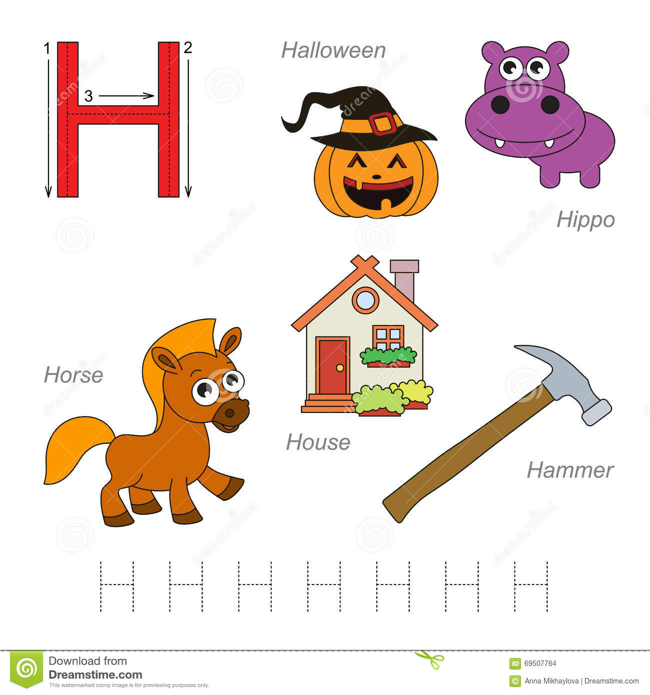 Pictures For Letter H Stock Vector Image Of Complete
