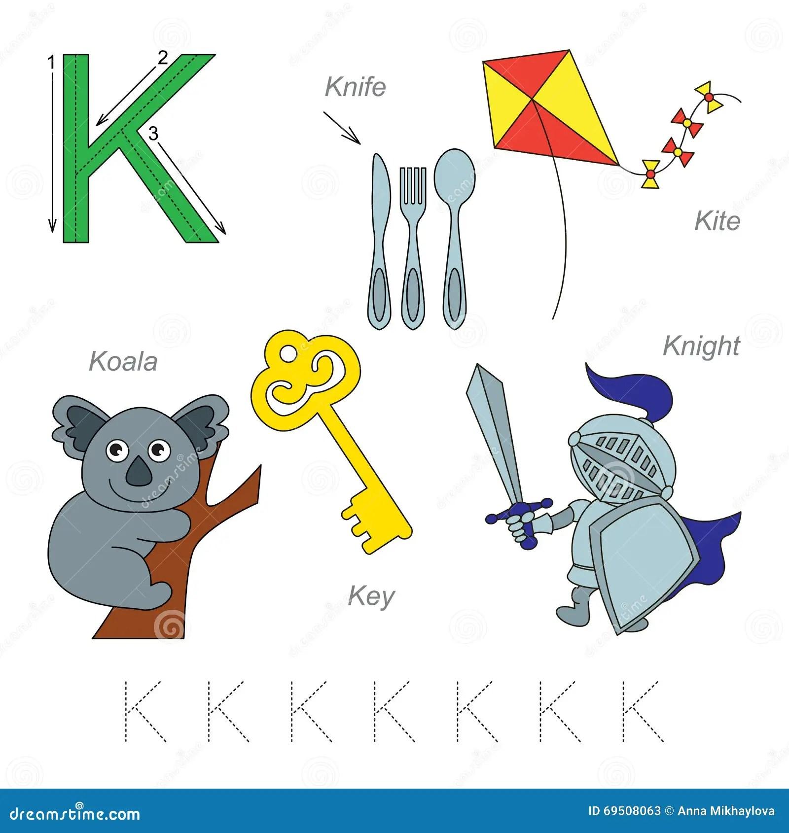 Pictures For Letter K Stock Vector Illustration Of Alphabet