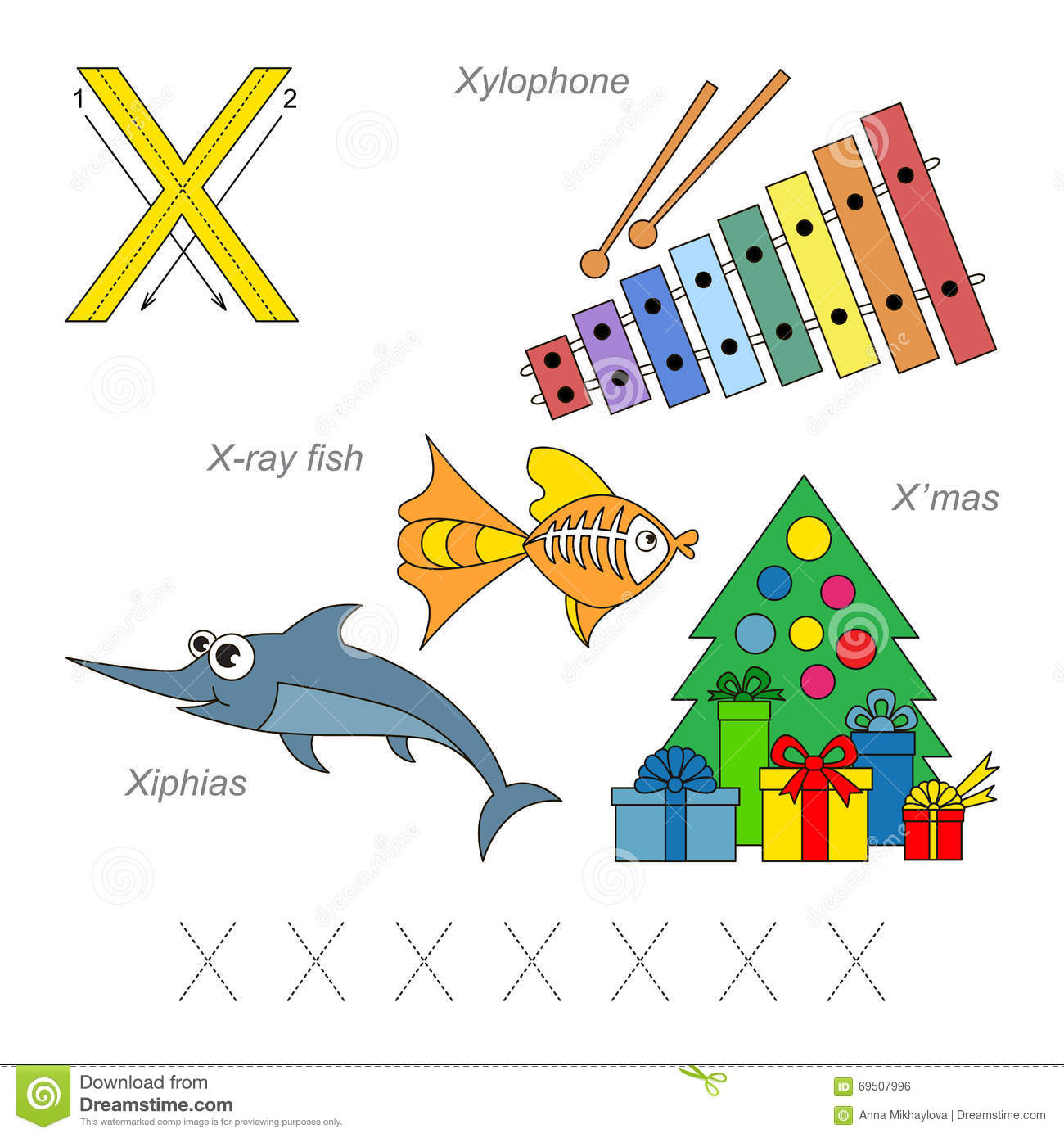 Pictures For Letter X Stock Vector Illustration Of