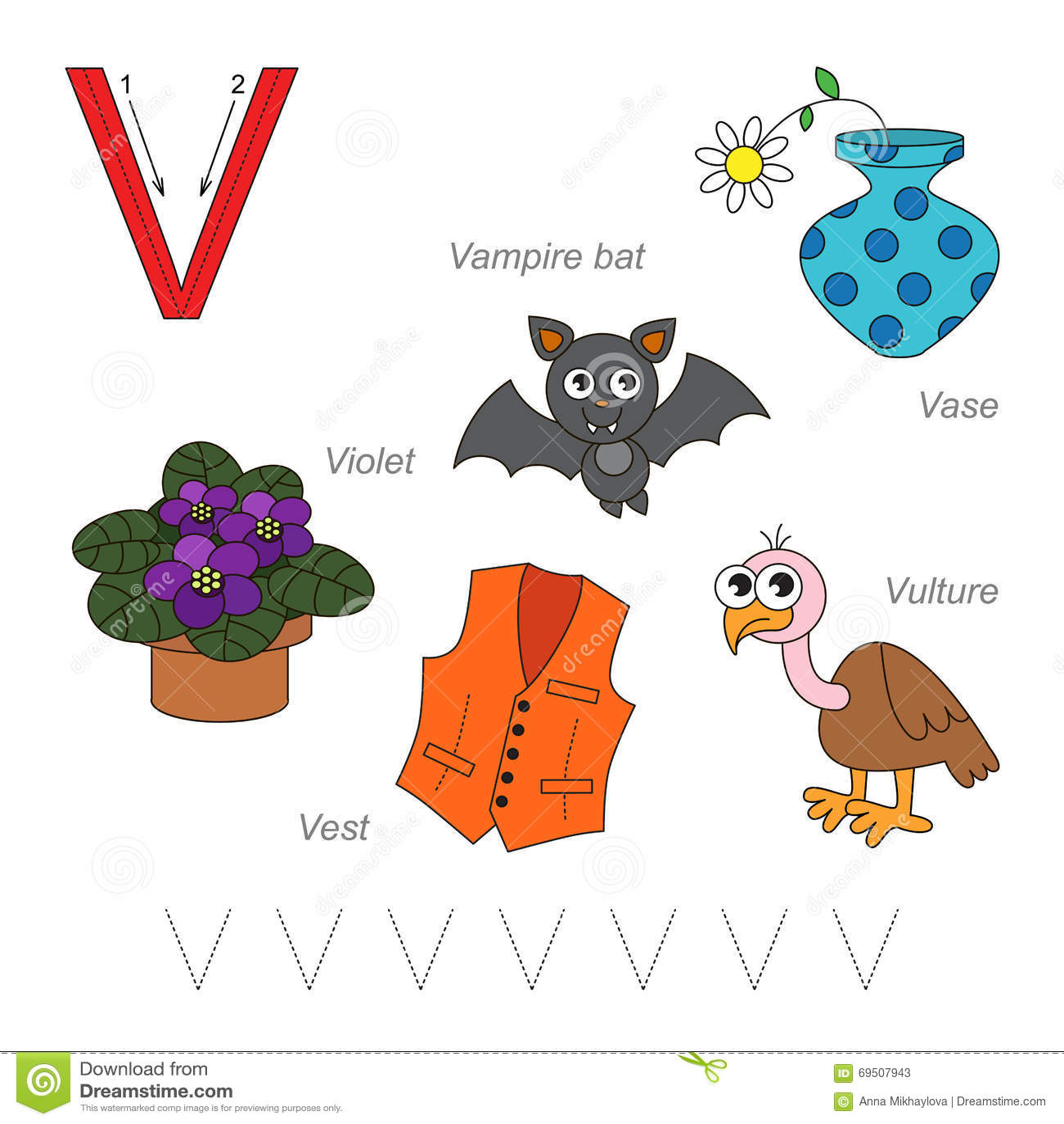 Pictures For Letter V Stock Vector Illustration Of Violet