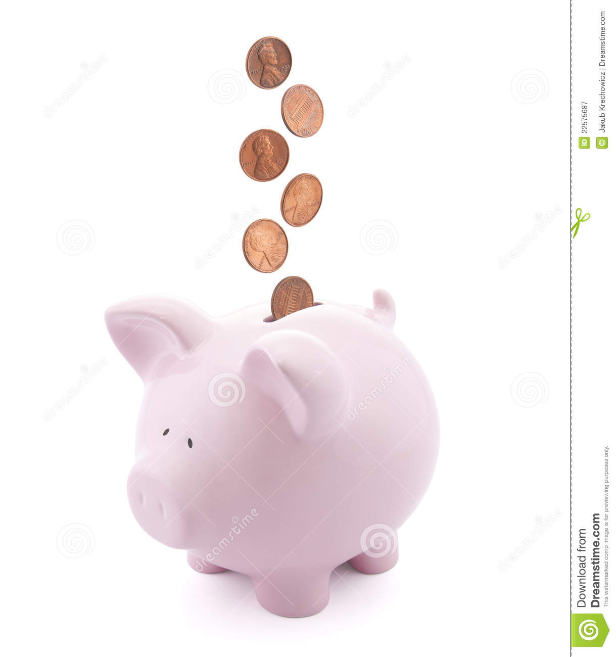 Piggy Bank With Coins Stock Image Image Of Money America