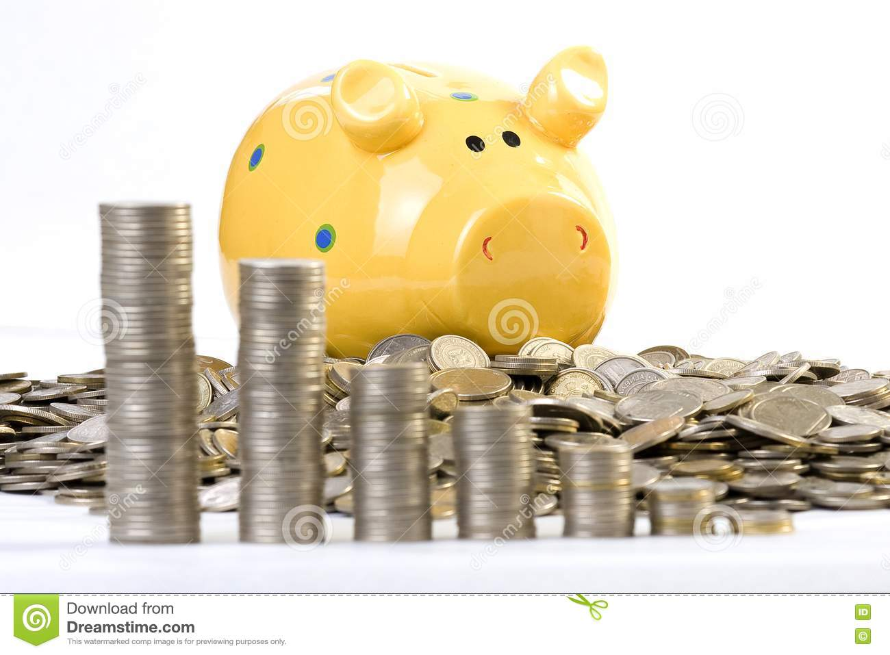 Piggy Bank And Coins Chart Picture Image