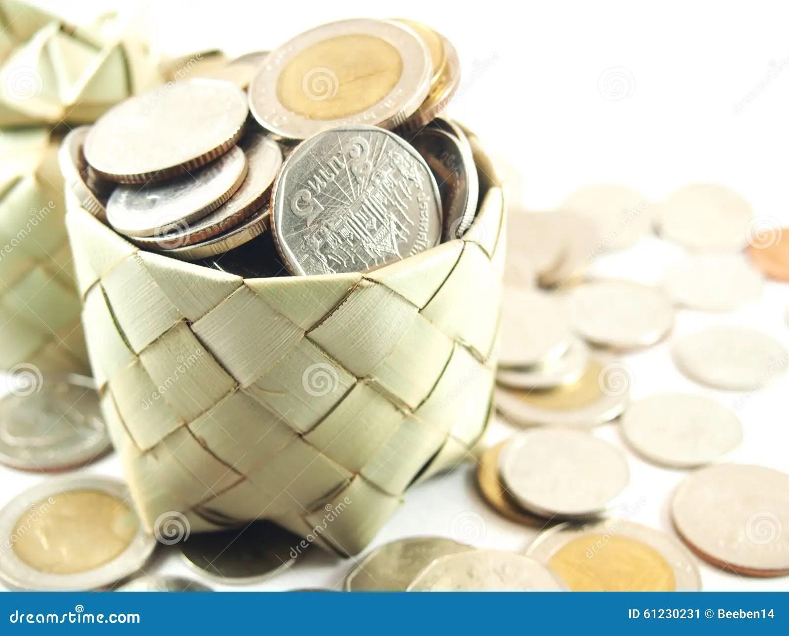 Piggy Bank Coins Collection Save Money Stock Image