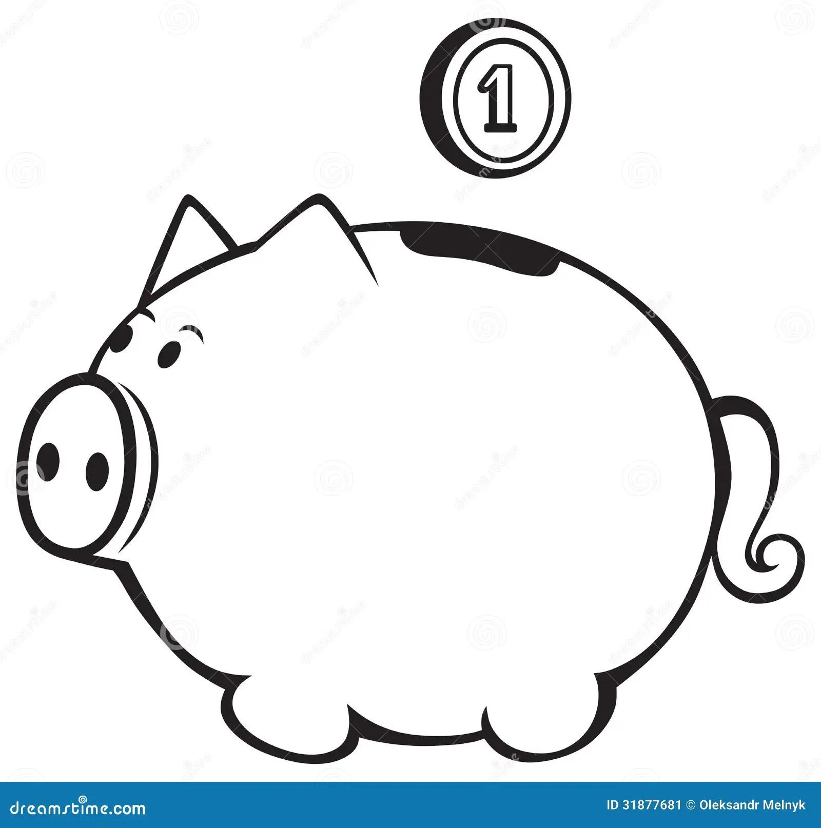 Piggy Bank Stock Vector Illustration Of Banking Money