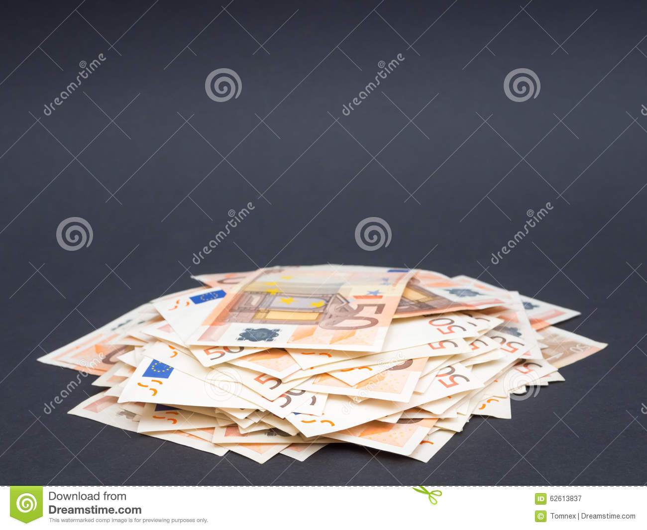 Pile Of Euro Money Stock Image Image Of Dividend