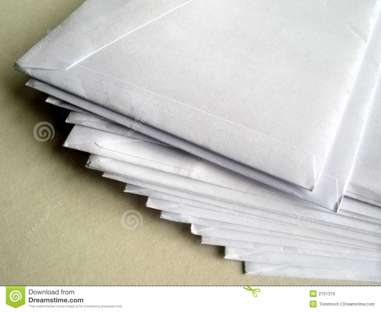 A Pile Of Unopened Letters Royalty Free Stock Images