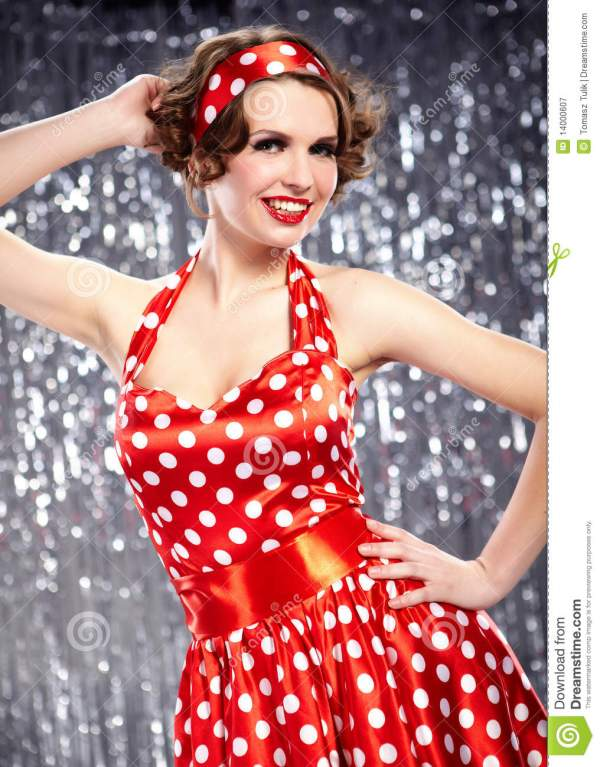 Pin-up Girl. American Style Stock Image - Image of ...