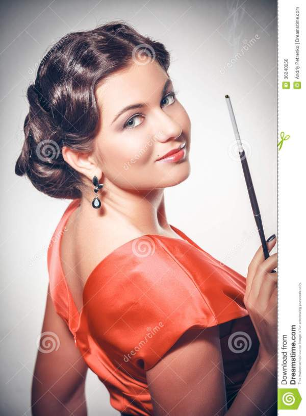 Pin-up Girl. American Style Stock Photo - Image of ...