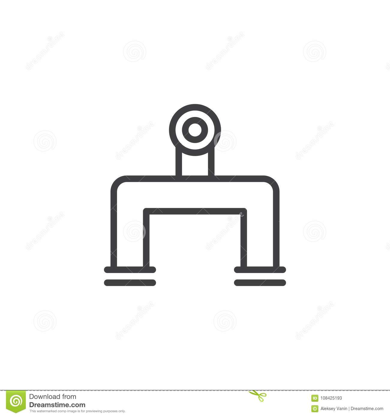 Pipeline Line Icon Stock Vector Illustration Of Pipe