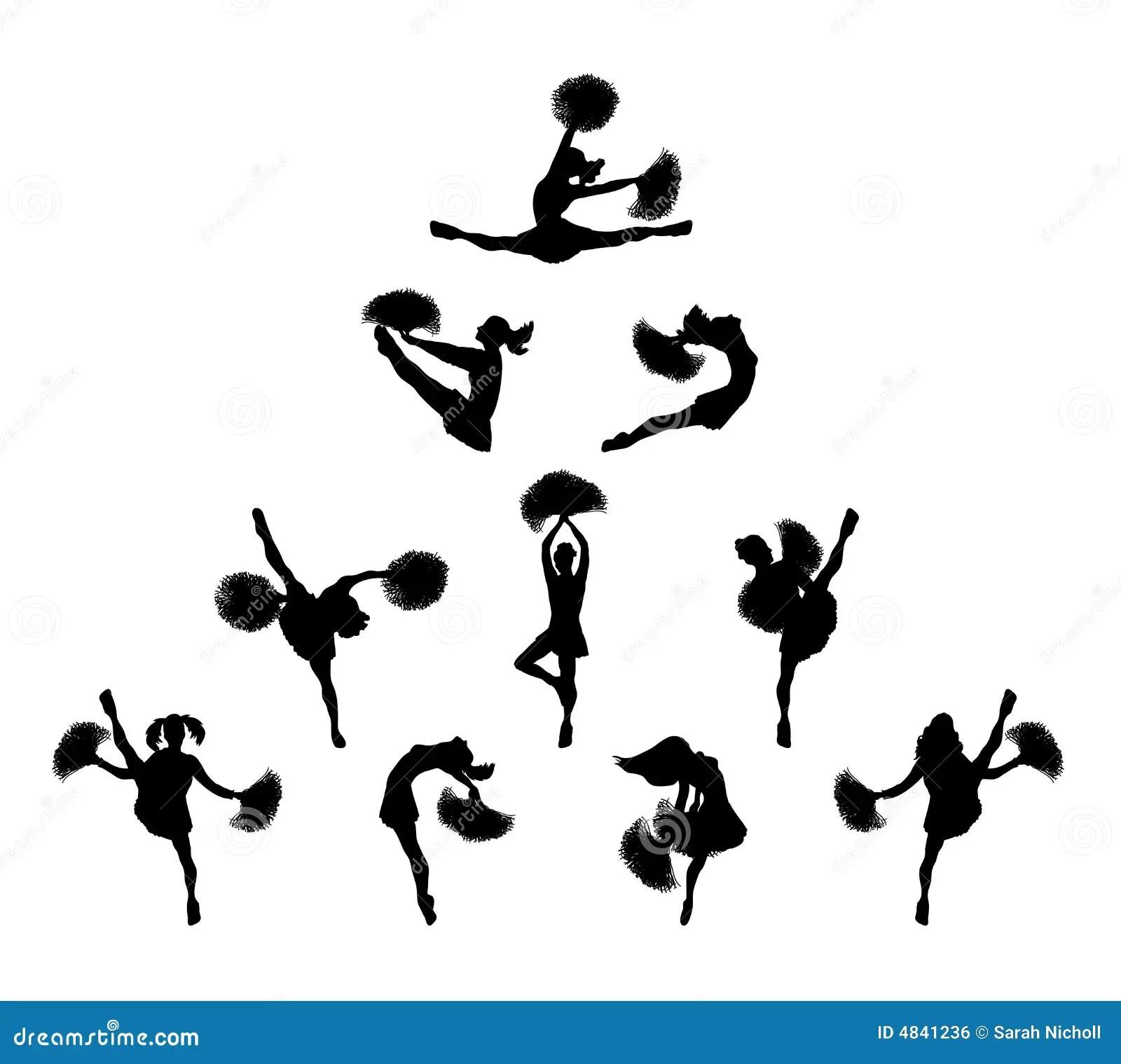 Piramide 1 Van Cheerleader Stock Illustratie Illustratie