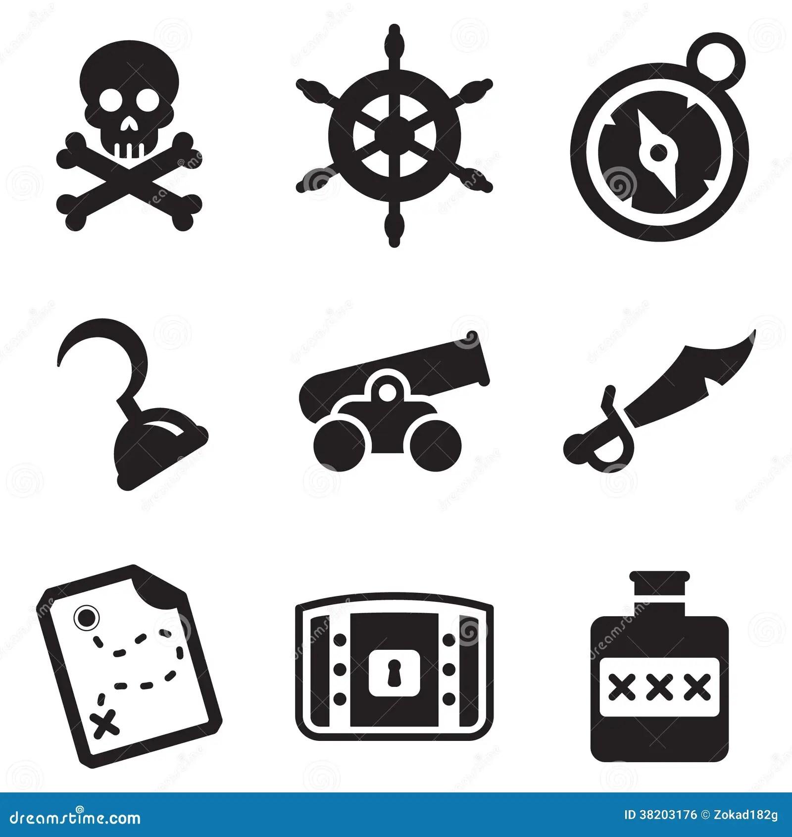 Pirate Icons Stock Illustration Illustration Of Black