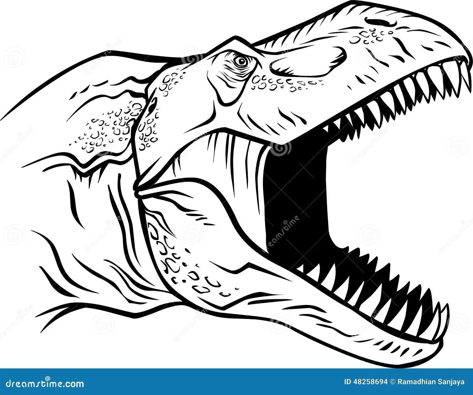 Pista De T Rex Ilustracion Del Vector Ilustracion De