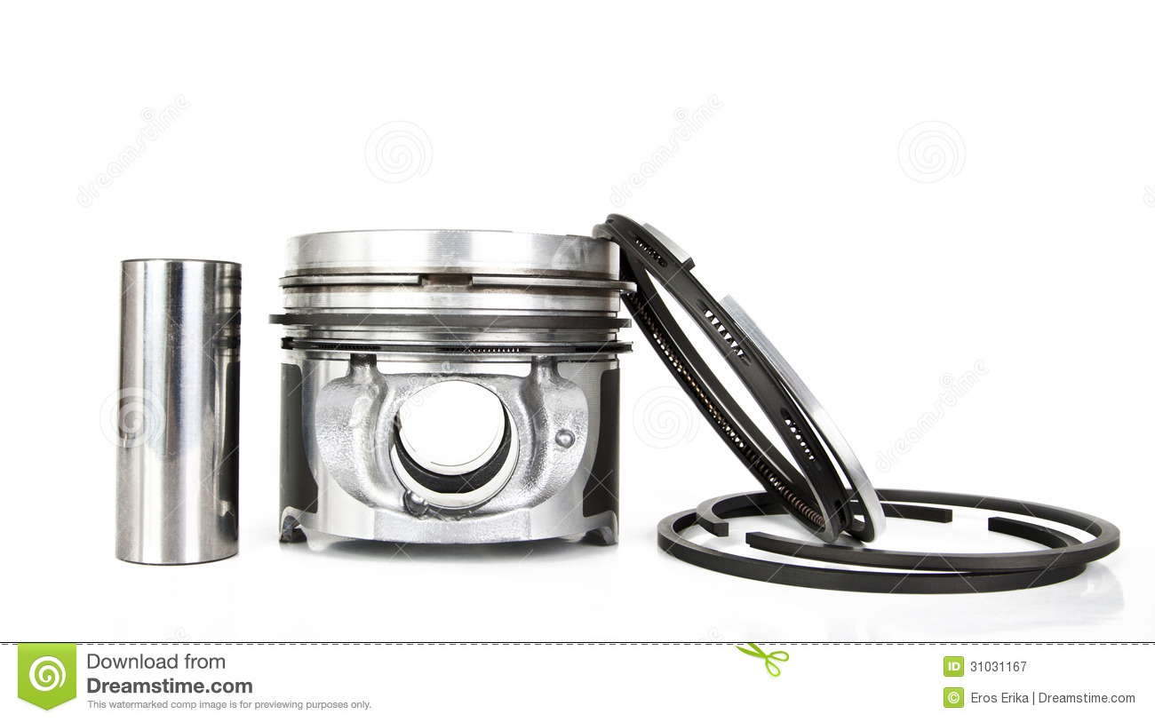 Pistons Isolated On White Royalty Free Stock Photography