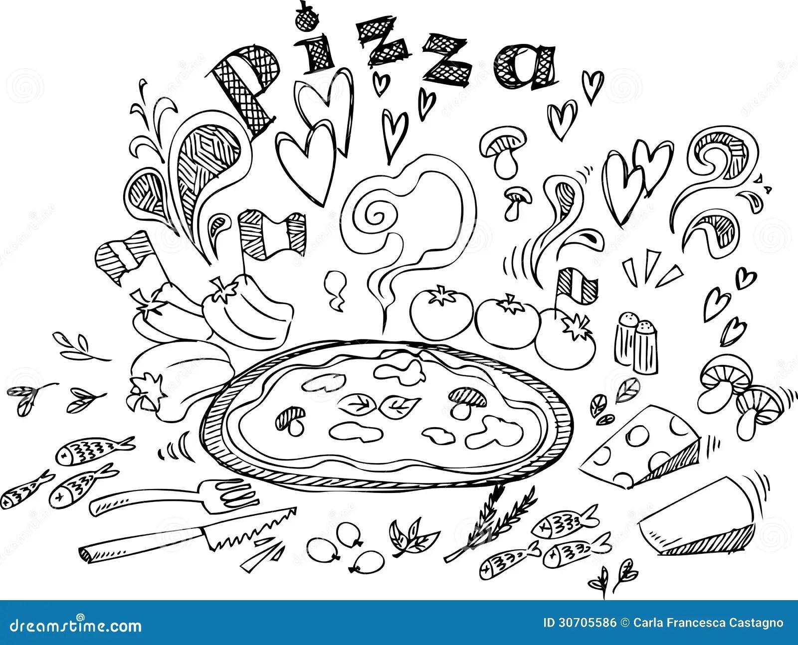 Pizza Ingre Nts Royalty Free Stock Image