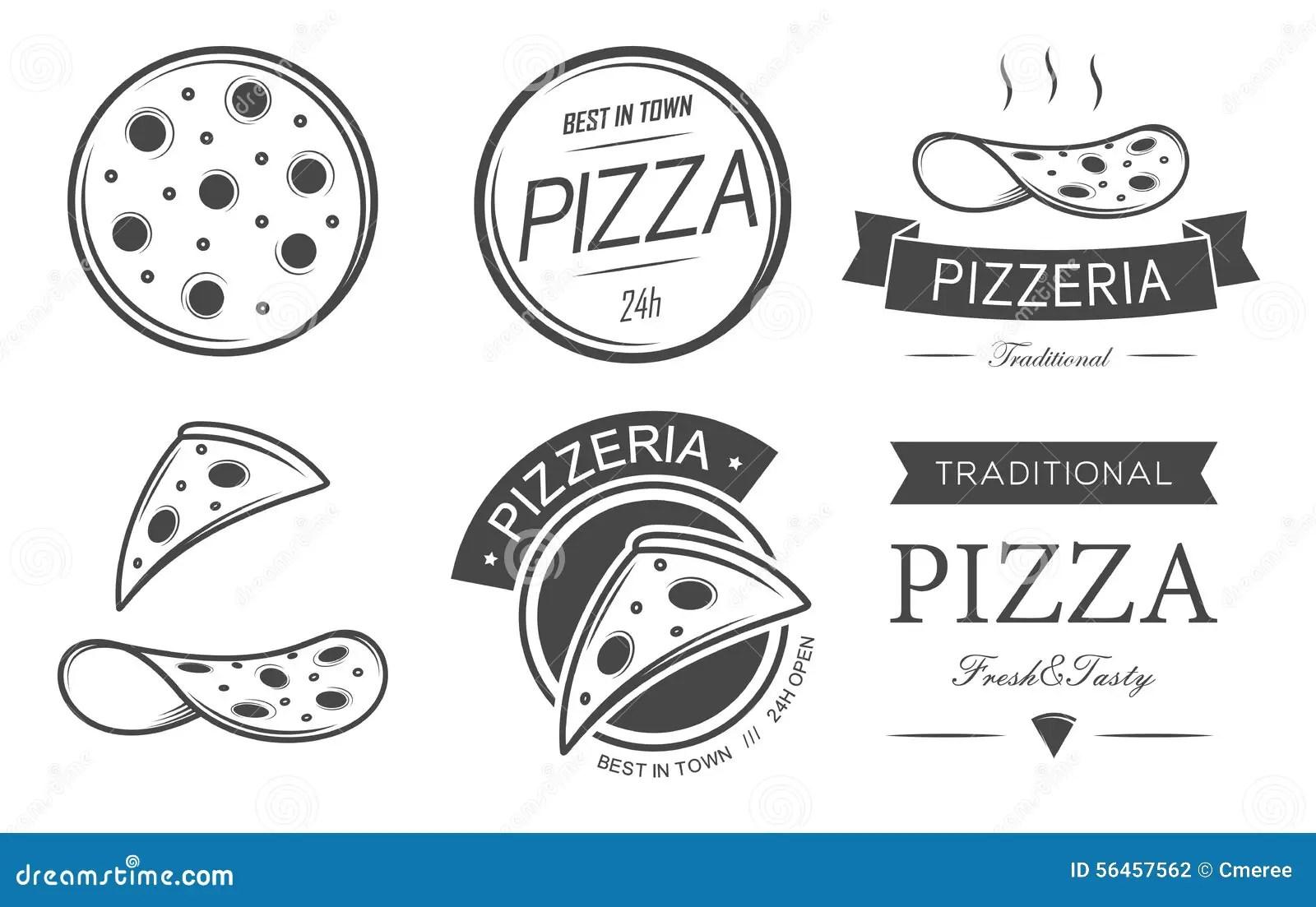 Pizza Set Stock Vector