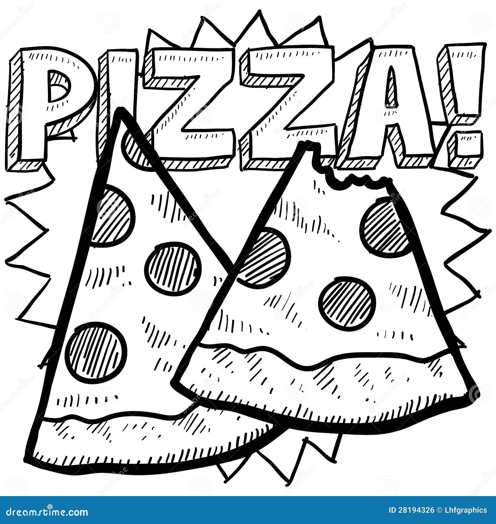 Pizza Slice Sketch Royalty Free Stock Image