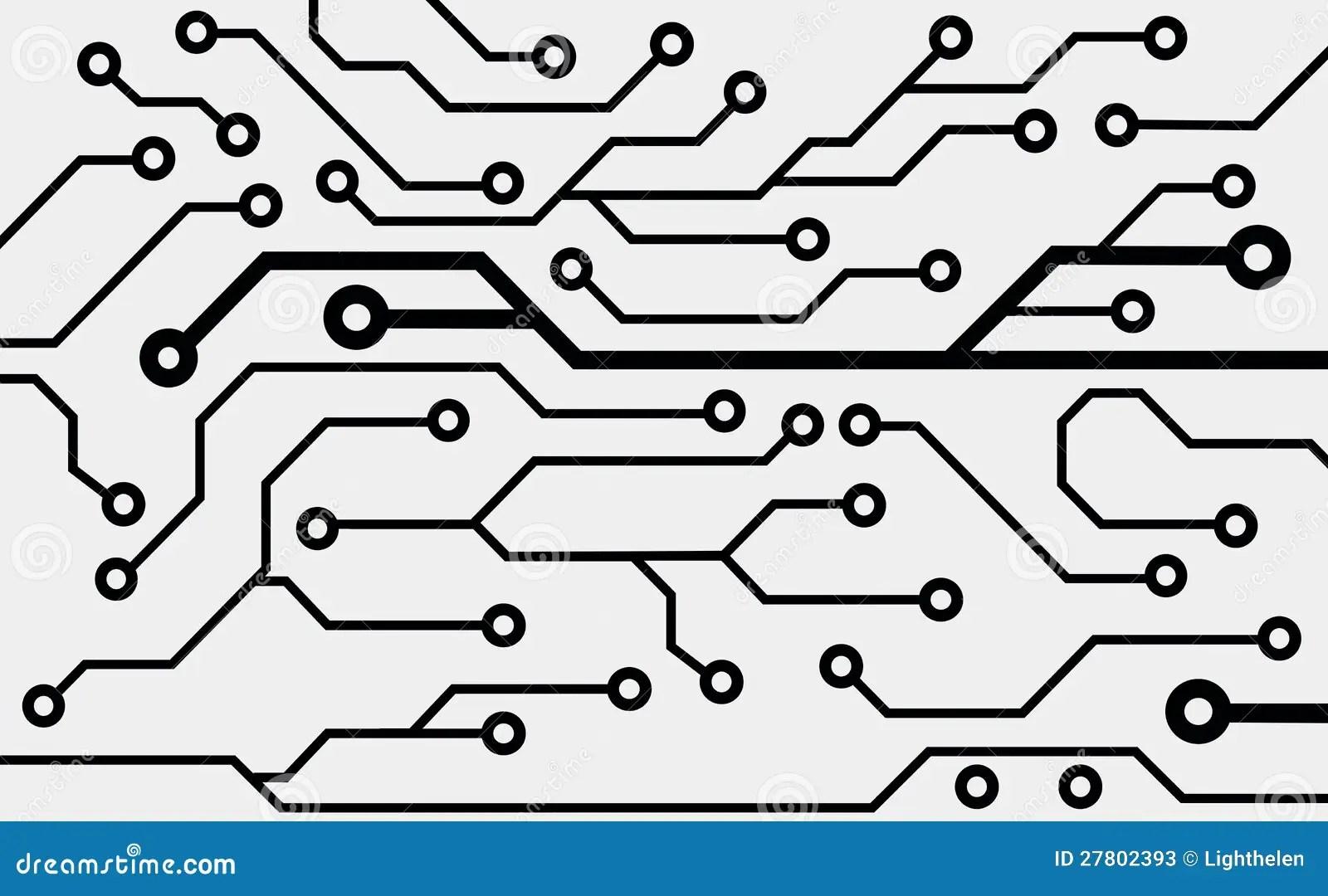 Placa De Circuito Do Computador Ilustracao Stock