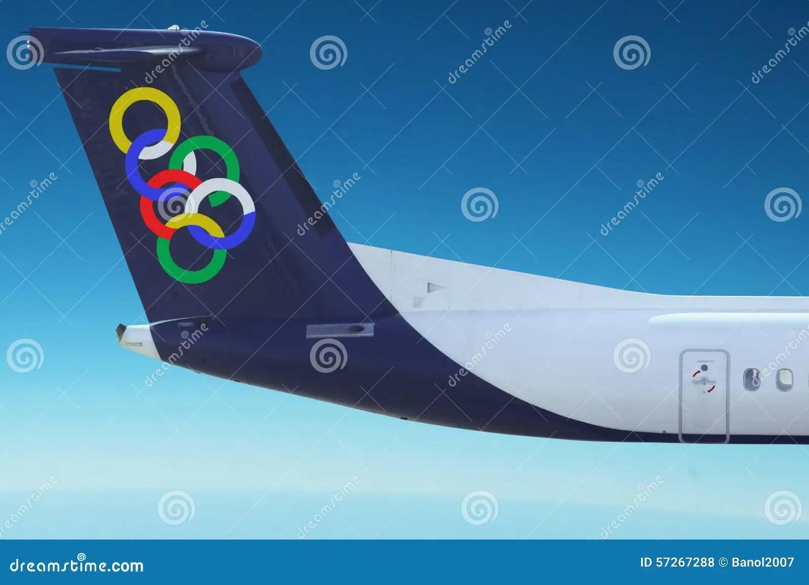plaine olympique d air ciel bleu photo stock editorial image du ciel boucles 57267288