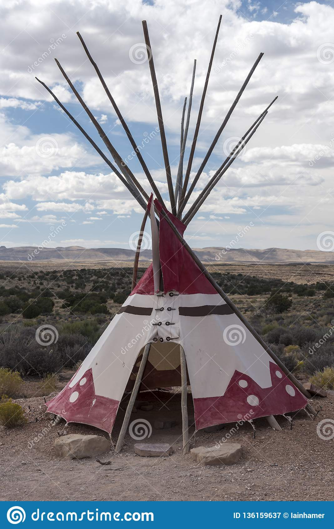 Plains Indian Tipi At Eagle Point Native American Tribal