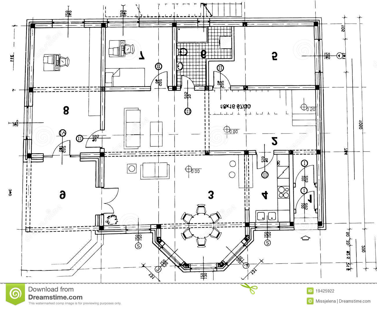Plan Architectural Illustration De Vecteur Illustration