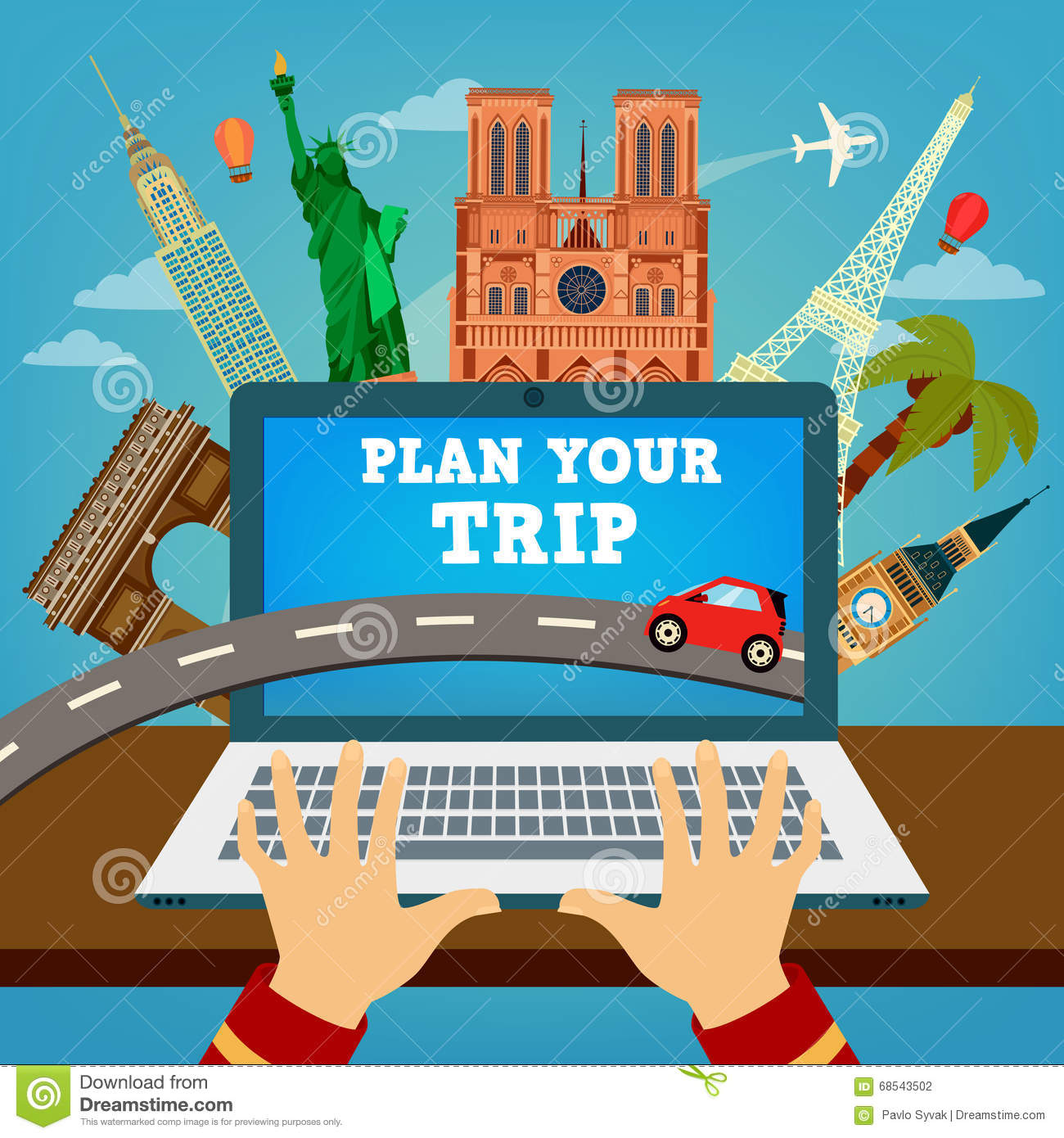 Plan Your Trip Travel Banner Vacation Planning Stock
