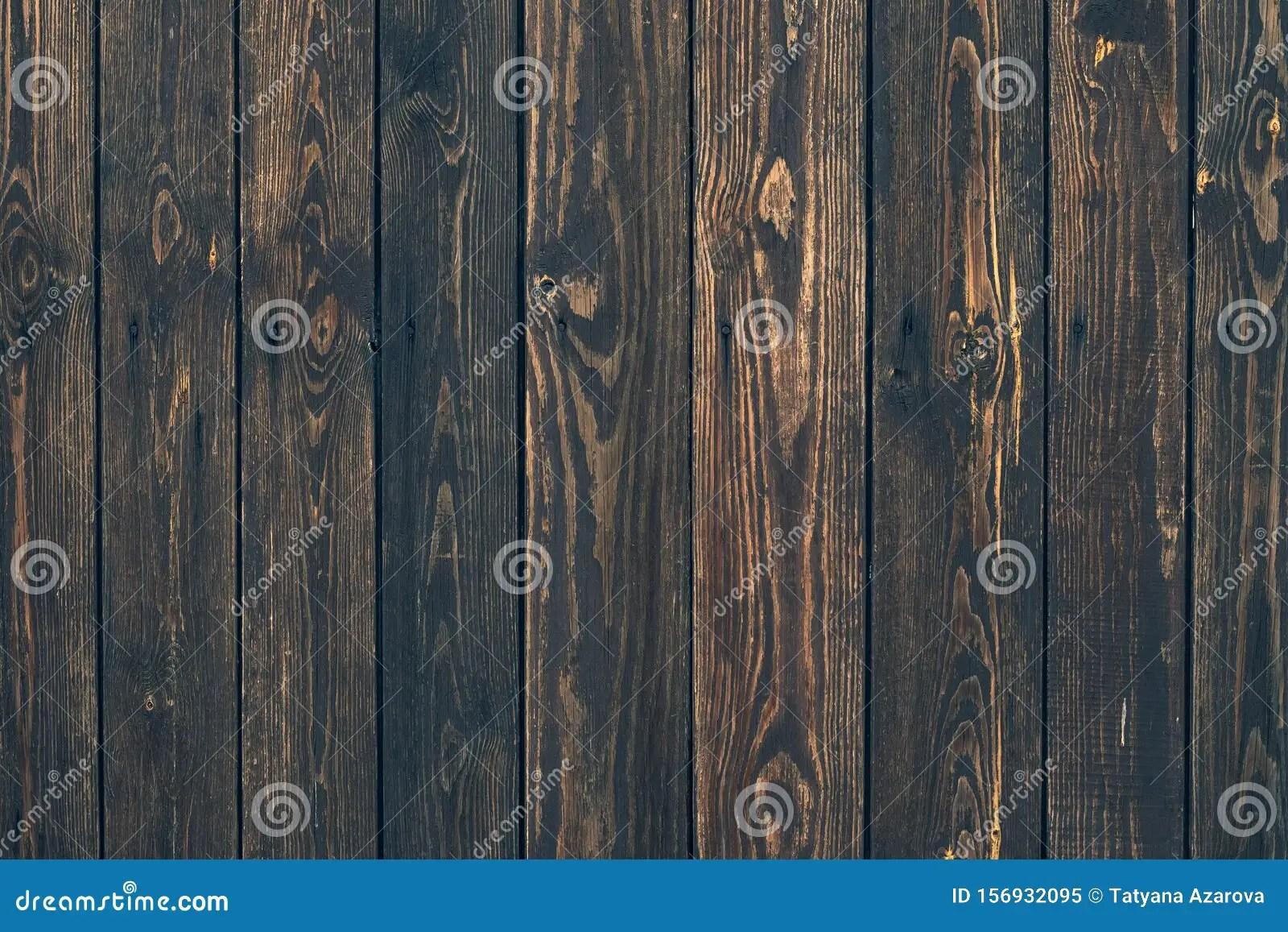 planches verticales en bois fonce plan
