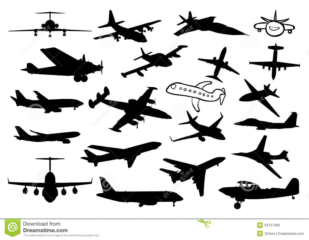 Plane Silhouettes Stock Vector Illustration Of Cargo