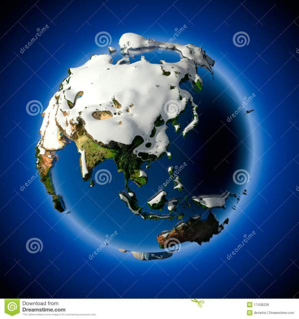 Planet Earth Is Covered By Snow Stock Illustration - Image ...