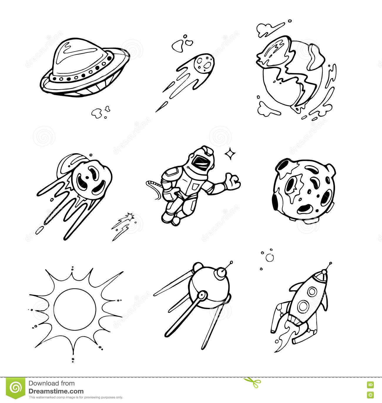Planeten Raketen Raumschiffe Ufo Sterne Astronaut