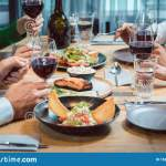 Plate Of Nice Food In A Fancy Restaurant On Table With People Eating Stock Photo Image Of Food Couple 162281766