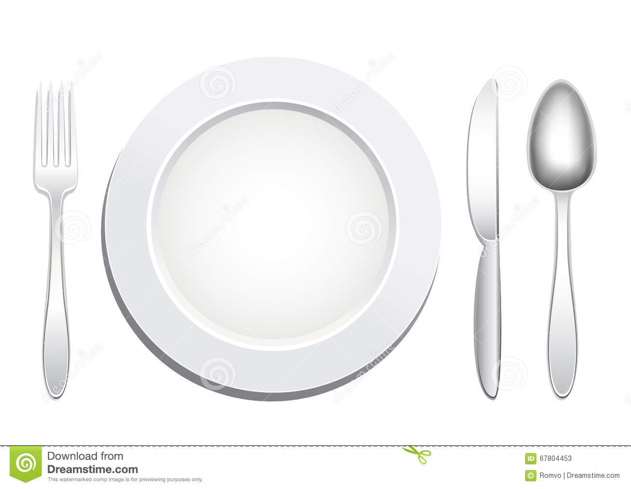 Plate Spoon Fork Knife Stock Vector Image Of Knife