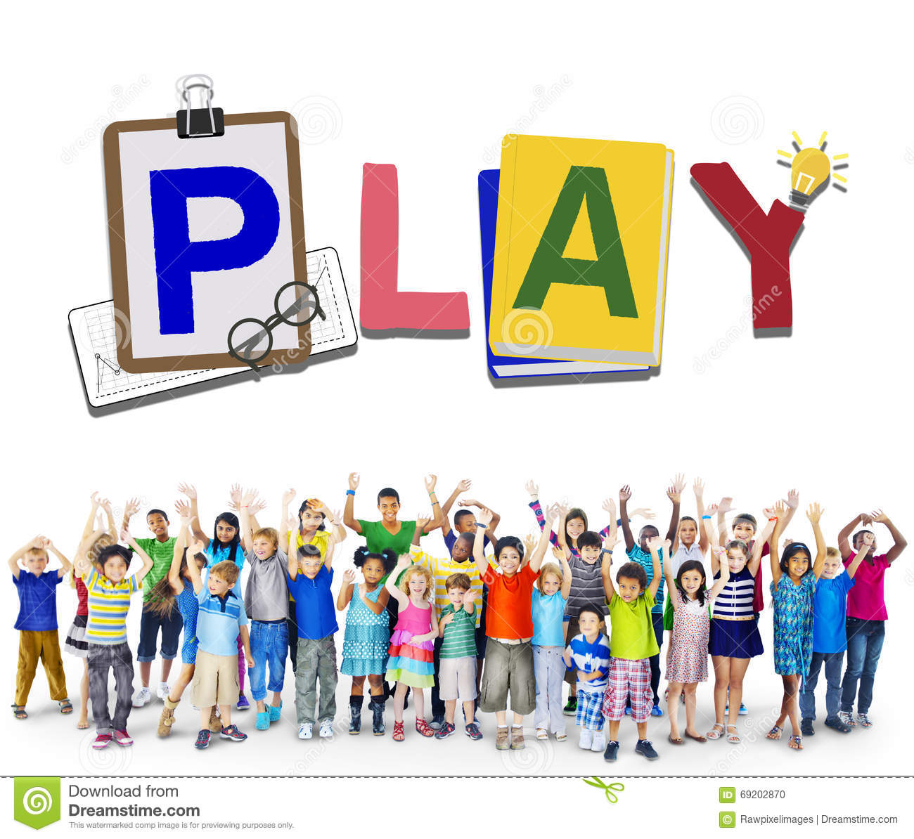 Play Leisure Activity Recreation Entertainment Playing Concept Stock Illustration