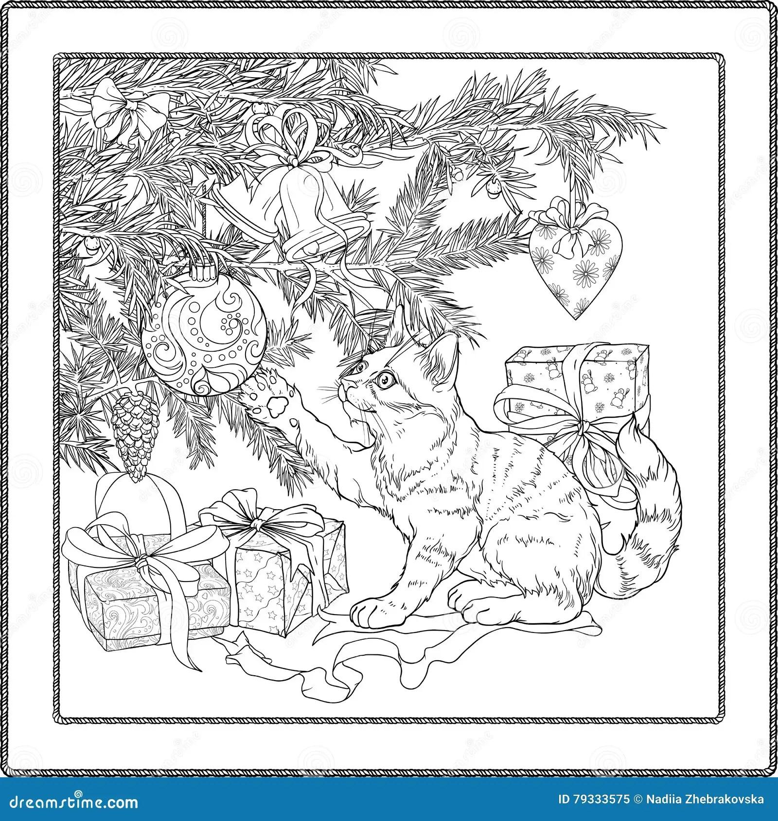 Playful Cat Stock Vector Illustration Of Animal Present
