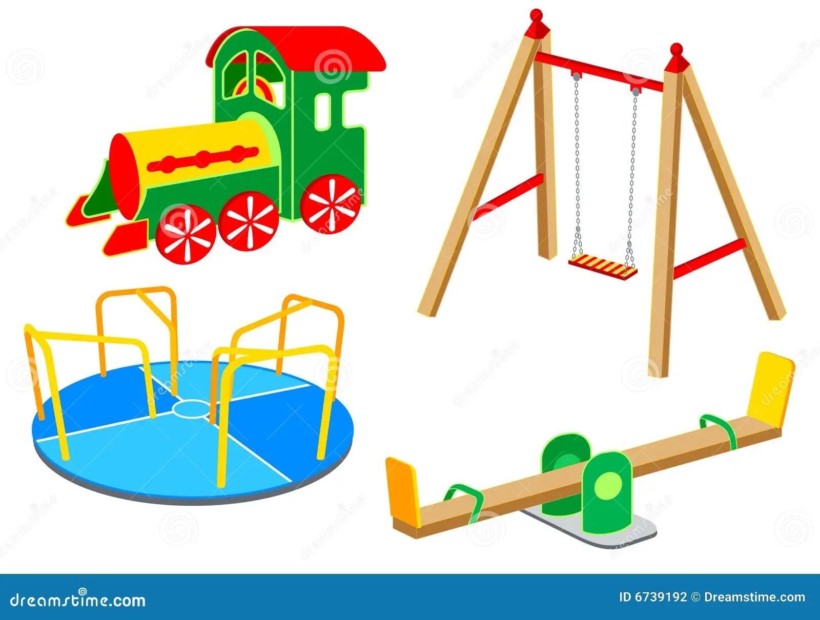 Playground Equipment Set 1 Stock Vector
